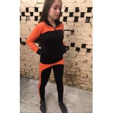 Conjunto suplex preto com laranja