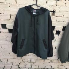 Jaqueta corta vento verde com preta